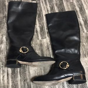 Tory Burch Leather Upper 7M  buckled riding boot
